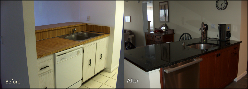 Condo before after Silver Palm Custom Homes & remodeling